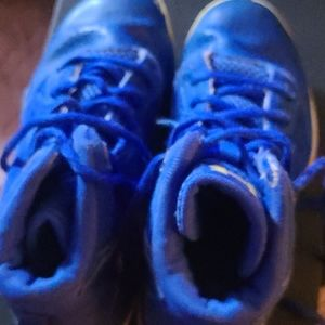 Under Armour blue and yellow sneakers